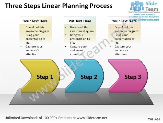 Business power point templates three create macro linear