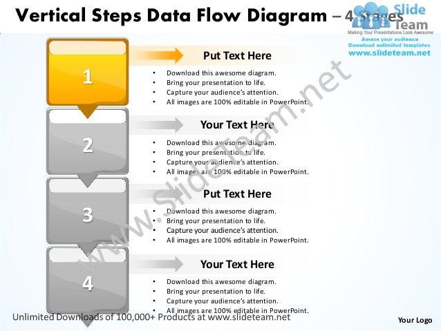 Business power point templates vertical steps data flow diagram sales your logo 2 vertical steps data flow diagram ccuart Images