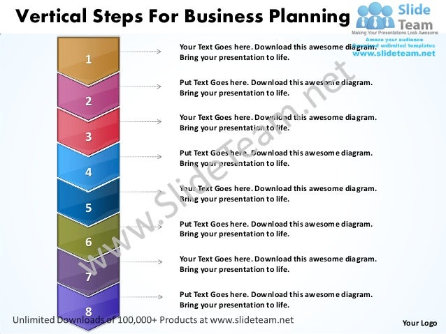 Vertical Steps For Business Planning                 Your Text Goes here. Download this awesome diagram.       1         B...
