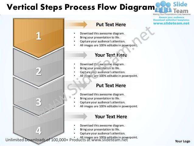 Business power point templates vertical steps process flow diagram sales ppt slides Slide 2