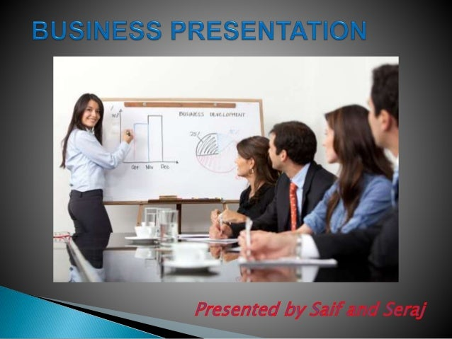 A business presentation is a formal tutorial or introduction of business practices or products. A business presentation is...