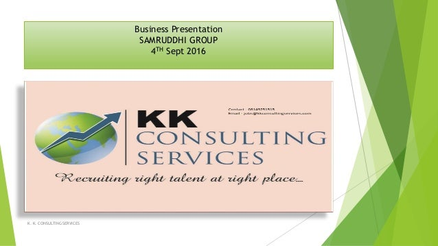 Custom presentation services