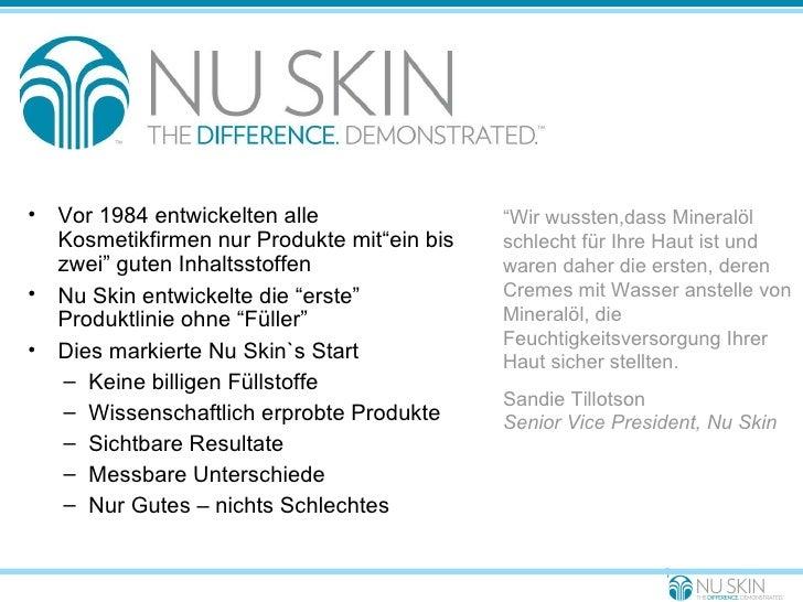 """<ul><li>Vor 1984 entwickelten alle Kosmetikfirmen nur Produkte mit""""ein bis zwei"""" guten Inhaltsstoffen </li></ul><ul><li>Nu..."""