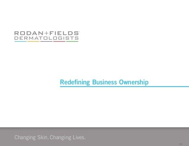 Changing Skin.Changing Lives. [1] Redefining Business Ownership