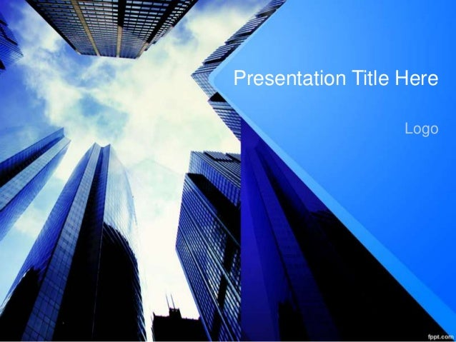Business presentation free corporate finance powerpoint template presentation title here logo second page business presentation free corporate finance powerpoint template upcoming slideshare toneelgroepblik Images
