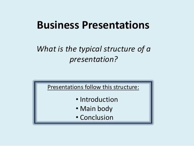 content of presentation slides