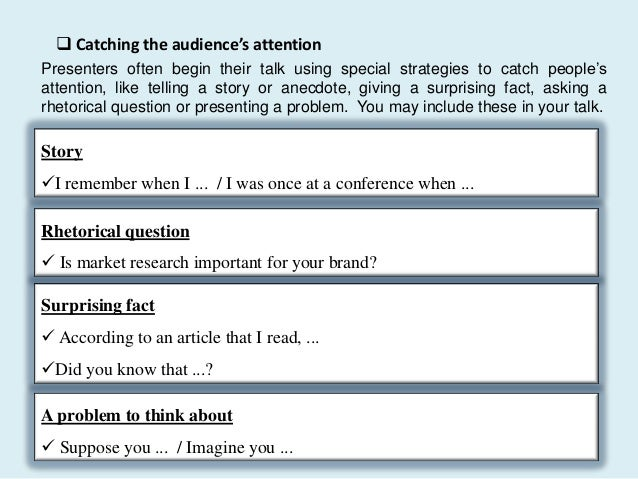 Language of Presentations