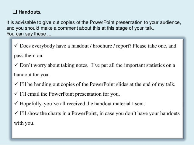 How to answer questions in presentations exercise