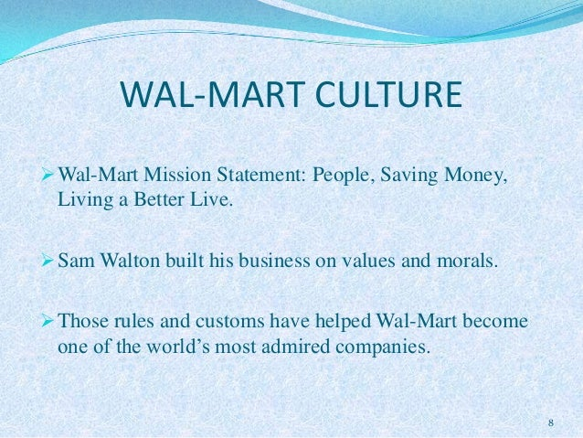the toxic organizational culture at wal mart Once the youngest president of the sierra club, adam werbach used to call wal- mart toxic now the company is his biggest client  in wal-mart's culture, he has  found what he thought was missing from the environmental.