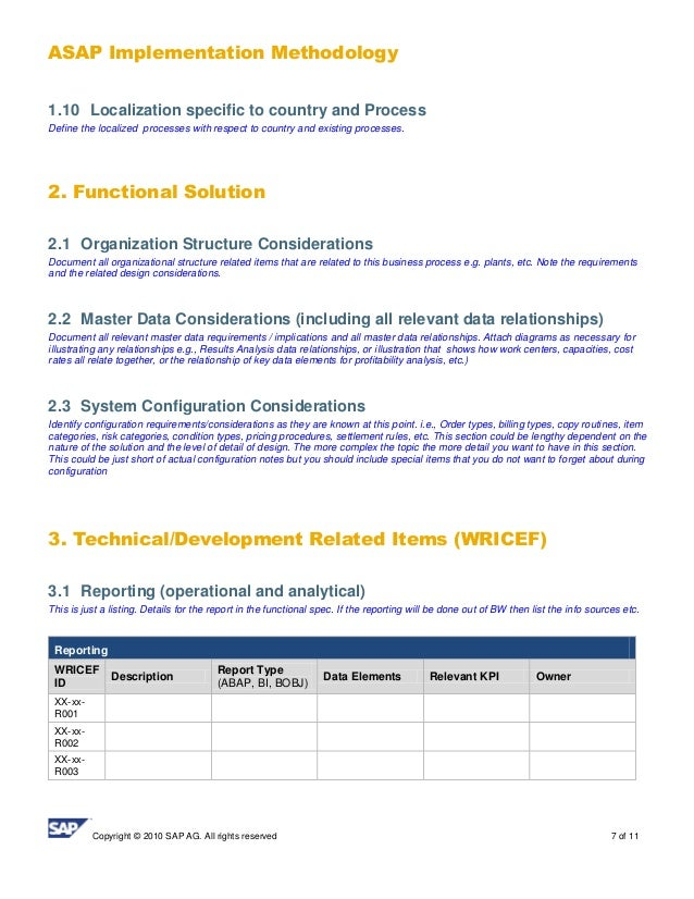 BPD Design Template - Report functional specification template