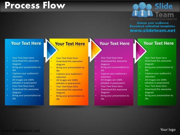 business process flow powerpoint ppt templates