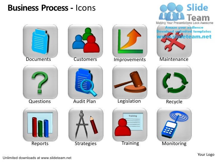 Business process icons customers improvements maintenance questions a business process icons documents customers ccuart Choice Image