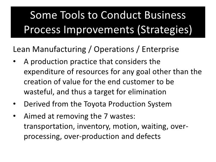 Business process improvement (special report) presentation