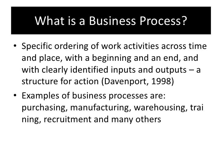 process note format