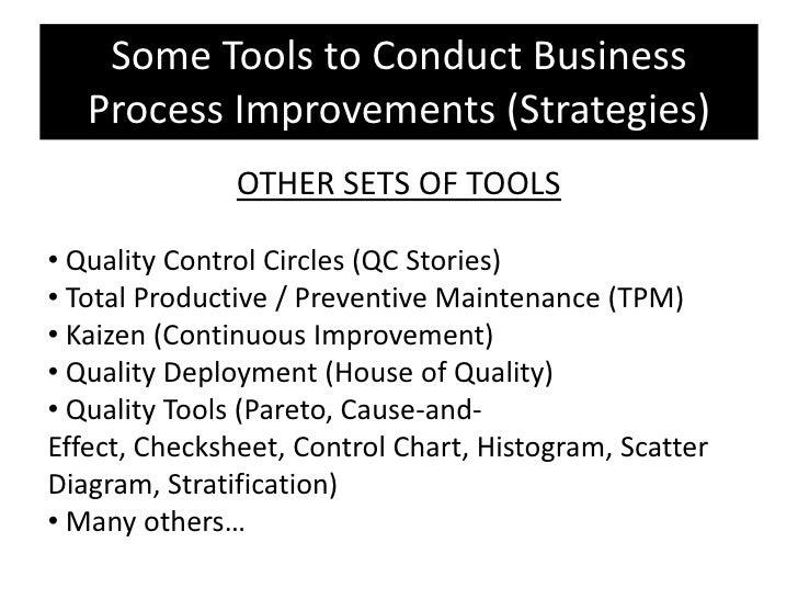Business process improvement (special report) presentation