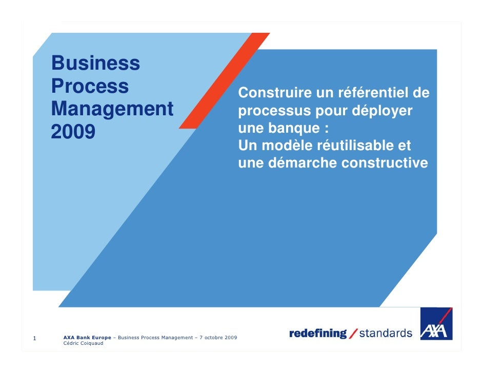 Business     Process                                                          Construire un référentiel de     Management ...
