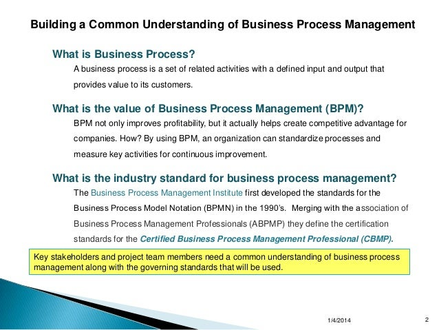 Business Process Management Approach