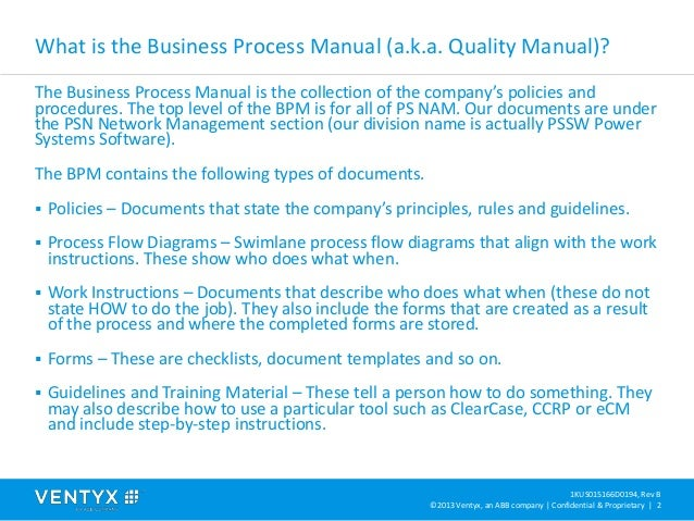 Business process manual overview – Business Manual Templates
