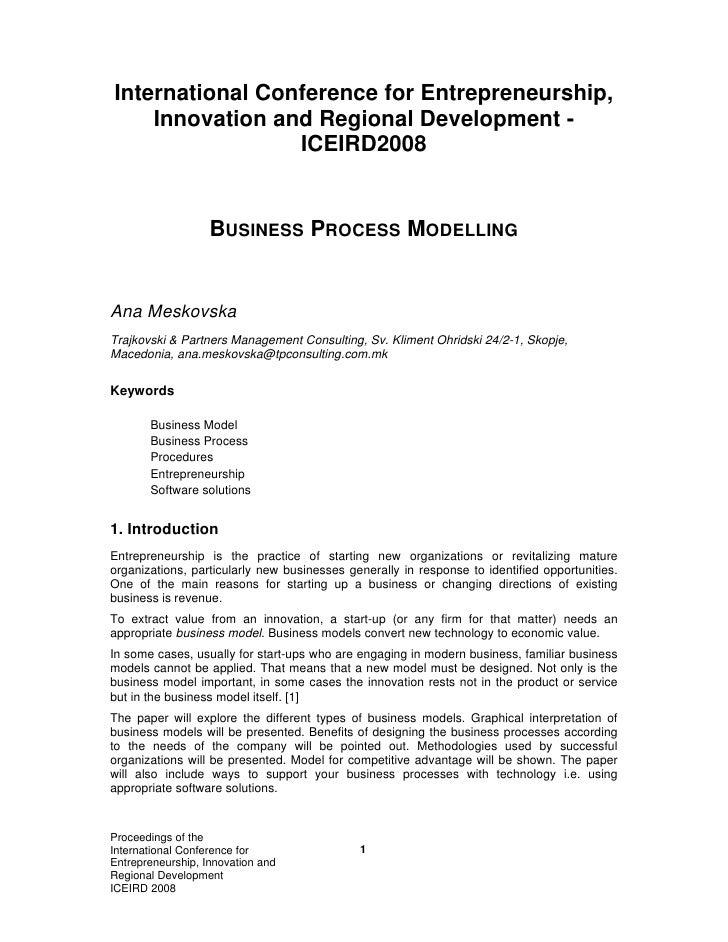 International Conference for Entrepreneurship,     Innovation and Regional Development -                  ICEIRD2008      ...