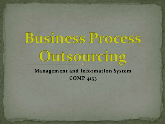 Management and Information System COMP 4153