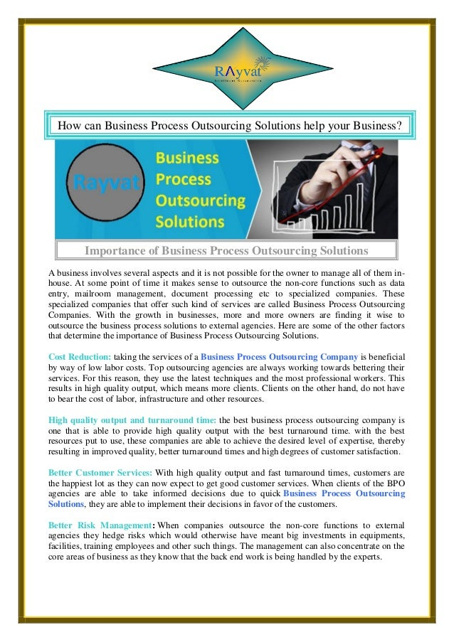 How Can Business Process Outsourcing Solutions Help Your Business