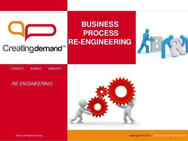 BUSINESS PROCESS RE-ENGINEERING CREATE BRAND MARKET www.creatingdemand.org Copyright 2013-2014 Presentation by: Sachin Ban...