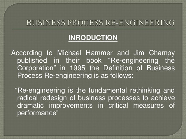 Business process re engineering case study