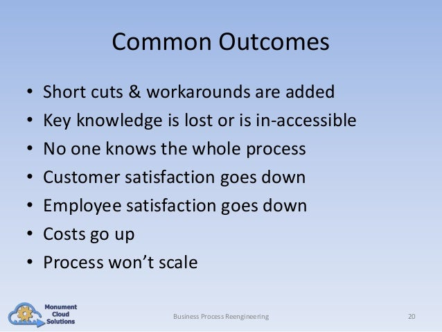 Common Outcomes • • • • • • •  Short cuts & workarounds are added Key knowledge is lost or is in-accessible No one knows t...