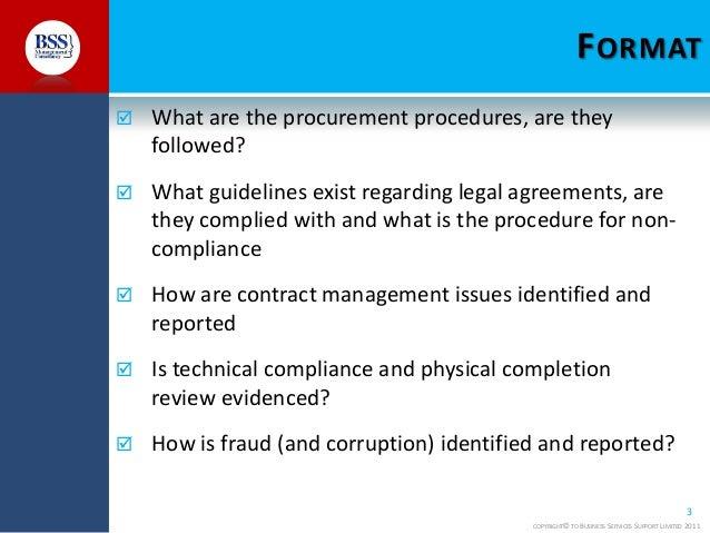 Procurement audit training course- Procurement Training Slide 3