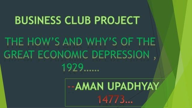 Great Economic Depression 1929