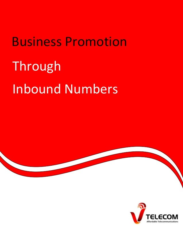 Business Promotion Through Inbound Numbers