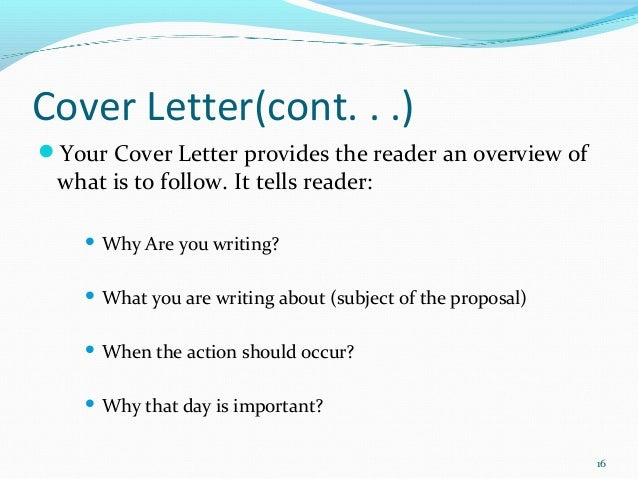 Business proposal – Business Proposal Cover Letter