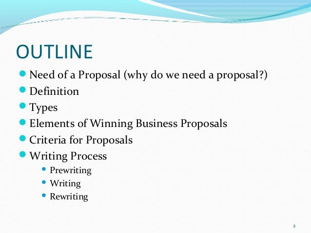 business proposal definition