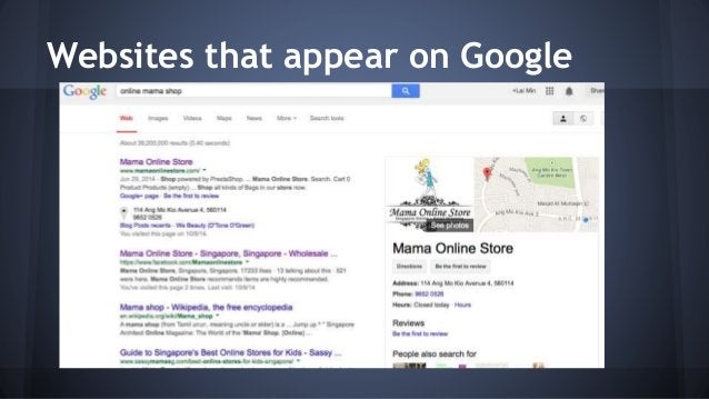 Websites that appear on Google