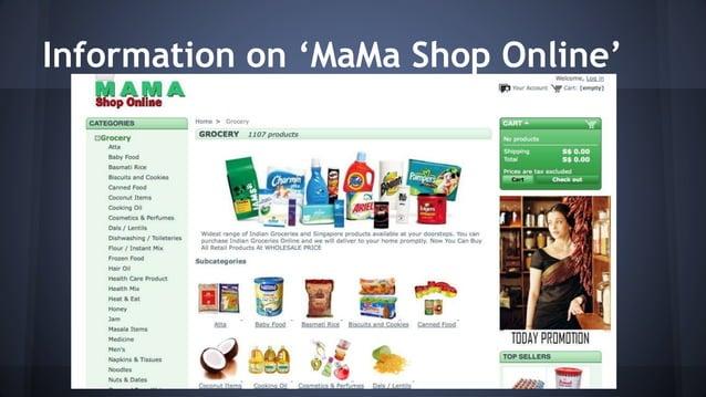 Information on 'MaMa Shop Online'