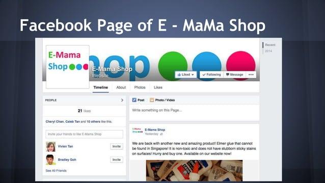 Facebook Page of E - MaMa Shop