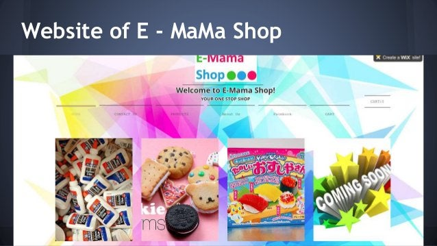 Website of E - MaMa Shop