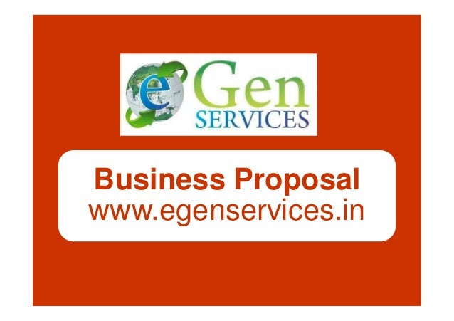 Business Proposal www.egenservices.in