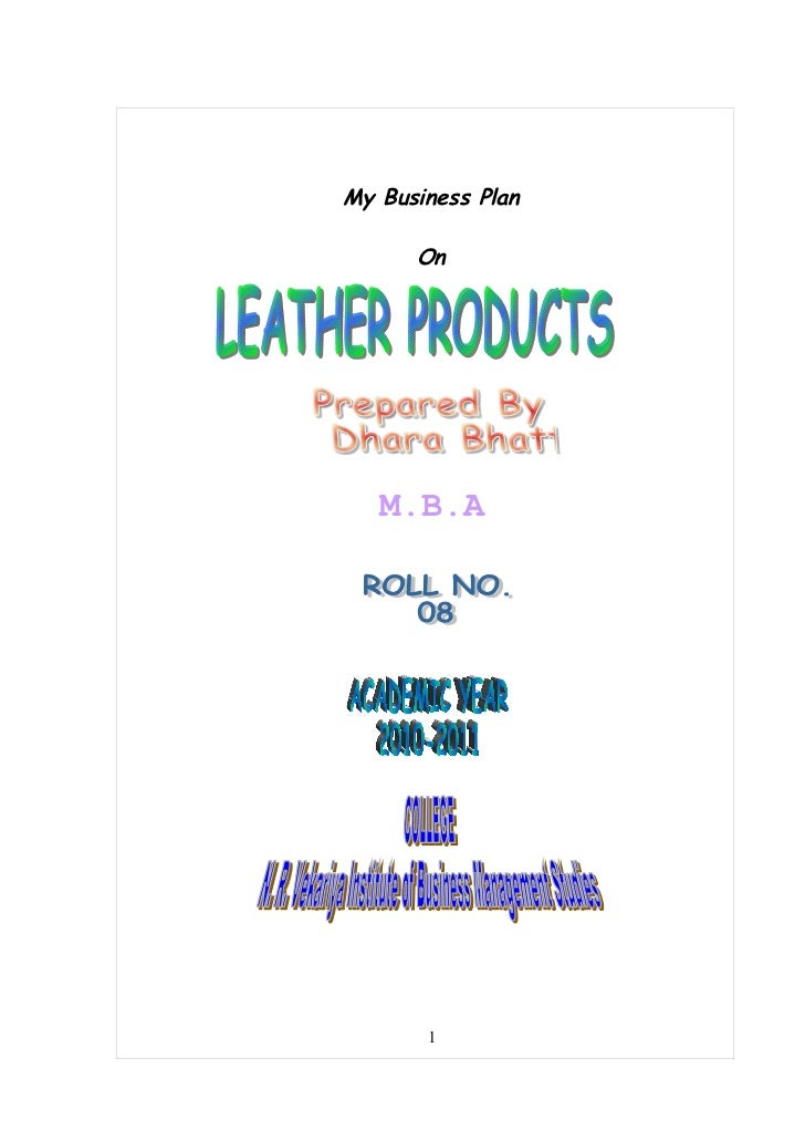 Business proposal leather bags by dhara bhatt