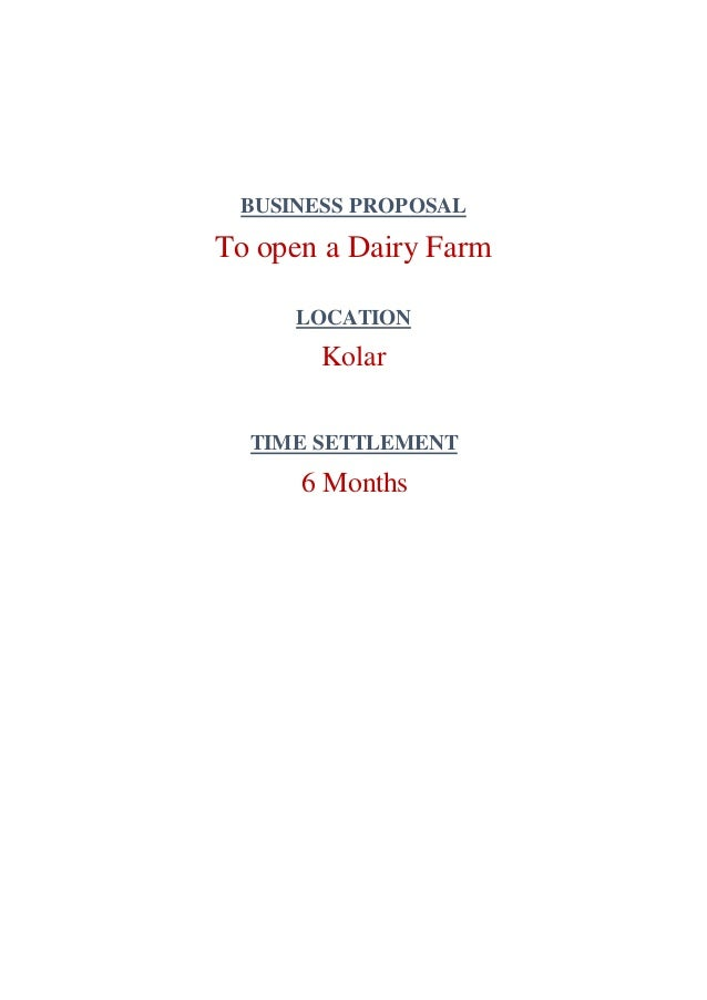 Business proposal budget plan for dairy farm business proposal to open a dairy farm flashek Images