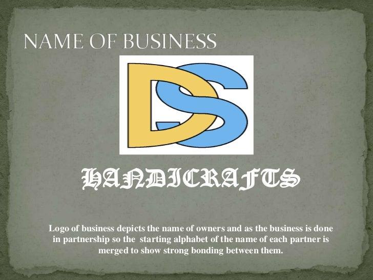 Business Proposal On D S Handicrafts