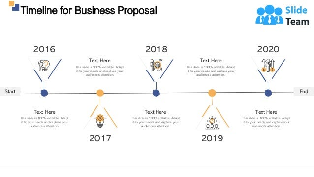Timeline for Business Proposal 27 Start End This slide is 100% editable. Adapt it to your needs and capture your audience'...