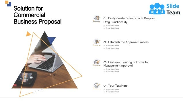 7 Solution for Commercial Business Proposal 01. Easily Create E- forms with Drop and Drag Functionality o Your text here o...