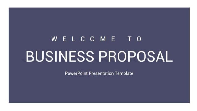 Business Proposal Powerpoint Presentation Template - Slidesalad