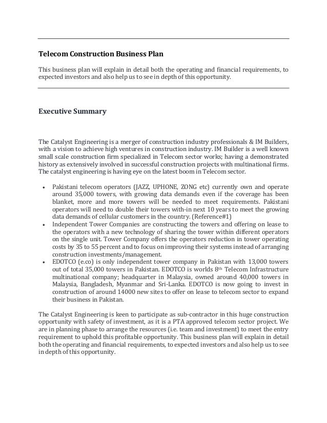Business propsal (telecom sector) pdf