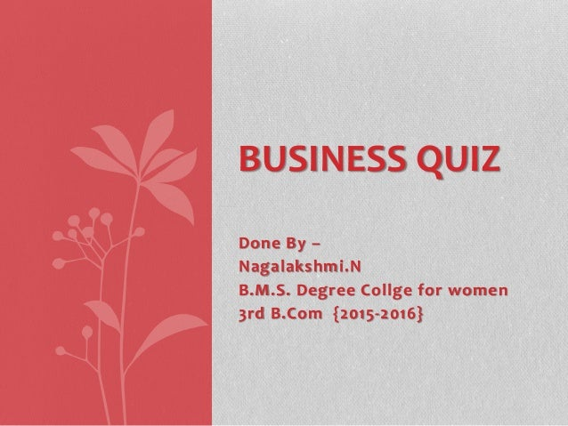 Business quiz with answers