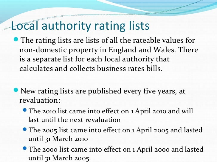 Rateable Value Of Property Domestic