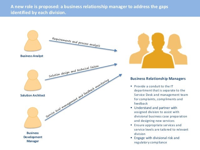 Defining the Business Relationship Manager Role within IT Departts