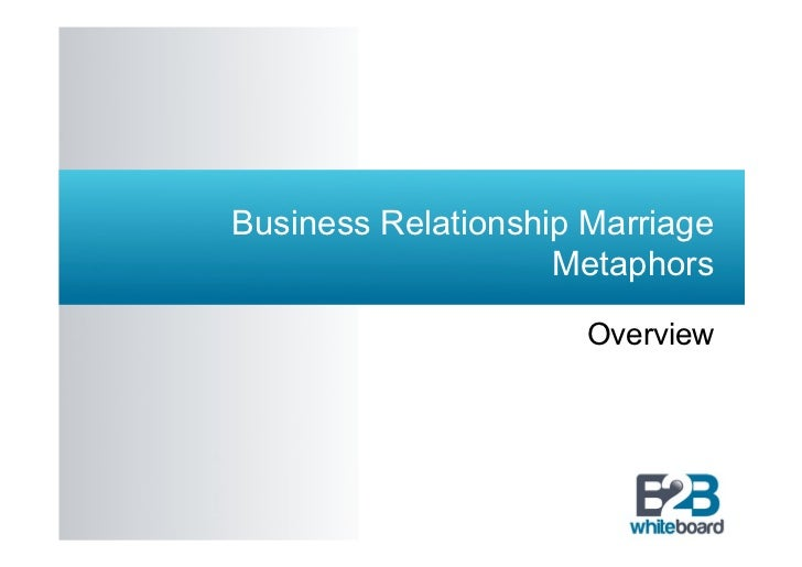 Business Relationship Marriage                    Metaphors                      Overview