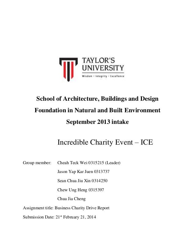 School of Architecture, Buildings and Design Foundation in Natural and Built Environment September 2013 intake  Incredible...